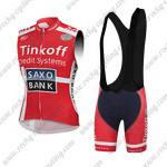 2015 Team Tinkoff SAXO BANK Riding Sleeveless Vest Bib Kit Red