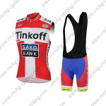 2015 Team Tinkoff SAXO BANK Riding Sleeveless Vest Bib Kit Red White
