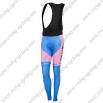 2015 Team Tinkoff SAXO BANK Women's Biking Long Bib Pants Pink Blue