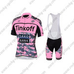 2015 Team Tinkoff SAXO BANK Women's Cycle Bib Kit Pink Black