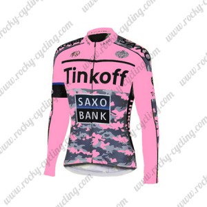2015 Team Tinkoff SAXO BANK Women's Cycling Long Jersey Pink Black