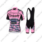 2015 Team Tinkoff SAXO BANK Women's Riding Bib Kit Pink Black