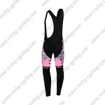 2015 Team Tinkoff SAXO BANK Women's Riding Long Bib Pants Pink Black