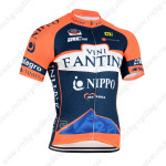 2015 Team VINI FANTINI NIPPO Cycling Jersey Blue Orange