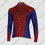 2015 The Amazing Spiderman Cycling Long Sleeve Jersey