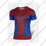 2015 The Amazing Spiderman Outdoor Sport Riding T-shirt Red Blue