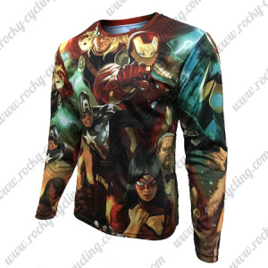2015 The Avengers Outdoor Sport Long Sleeves Cycling T-shirt