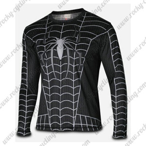 2015 The Black Venom Spiderman Outdoor Sport Outfit Long Sleeves Cycling T-shirt