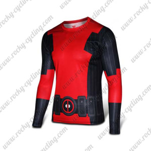 2015 The Deadpool Long Sleeves Cycling T-shirt