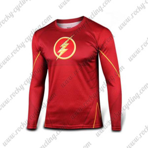 2015 The Flash Outdoor Sport Wear Long Sleeves Cycling T-shirt