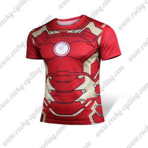 2015 The IRON MAN MK43 MARK XLIII Outdoor Sport Wear Cycling T-shirt