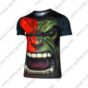 2015 The Incredible Hulk Outdoor Sport Apparel Cycling T-shirt
