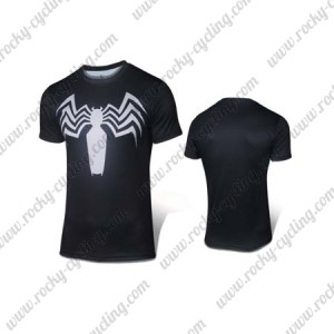 2015 The Spiderman Cycling T-shirt Black White