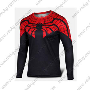 2015 The Ultimate Spiderman Outdoor Sport Long Sleeves Cycling T-shirt