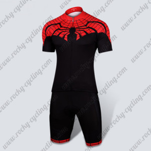 2015 Ultimate Spider-Man Cycling Kit Red Black