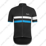 2015 Team Rapha Cycling Jersey Black White Blue