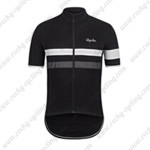 2015 Team Rapha Cycling Jersey Black White Grey