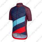 2015 Team Rapha Cycling Jersey Blue Red