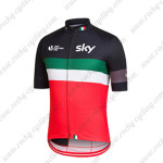 2015 Team SKY Rapha Bicycle Jersey Black Green Red