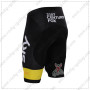 2015 Team SKY Rapha Biking Shorts Black Yellow