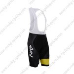 2015 Team SKY Rapha Cycle Bib Shorts Black Yellow