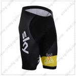 2015 Team SKY Rapha Cycle Shorts Black Yellow