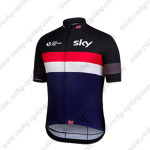 2015 Team SKY Rapha Cycling Jersey Black Red Blue