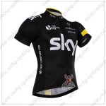 2015 Team SKY Rapha Cycling Jersey Black Yellow