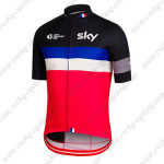 2015 Team SKY Rapha Cycling Jersey Shirt Black Blue Red
