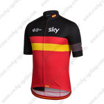2015 Team SKY Rapha Riding Jersey Shirt Black Red Yellow