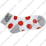 2015 Tour de France Outdoor Sport Cycling Socks Polka Dot