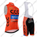 2015 Team CCC Cycling Sleeveless Bib Kit