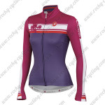 2015 Team Castelli Womens' Cycling Long Jersey Red Purple