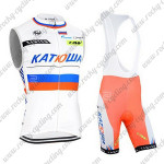 2015 Team KATUSHA Riding Sleeveless Bib Kit White