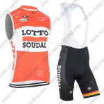 2015 Team LOTTO SOUDAL Riding Bib Sleeveless Kit Red