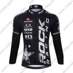 2015 Team ROCK RACING Bicycle Long Jersey Black