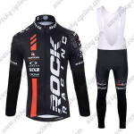 2015 Team ROCK RACING Biking Long Bib Suit Black Red