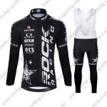 2015 Team ROCK RACING Cycling Long Bib Suit Black