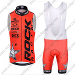 2015 Team ROCK RACING Cycling Sleeveless Bib Kit Red