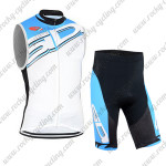 2015 Team SIDI Cycling Sleeveless Kit White Blue
