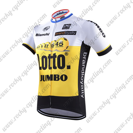 338834a62 2016 Team LOTTO JUMBO Cycle Wear Biking Jersey Tops Shirt White ...