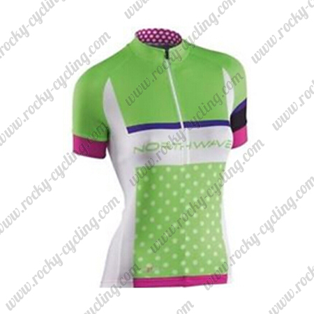2016 Team Northwave Womens  Cycle Wear Riding Jersey Tops Shirt Green 13d0c1802