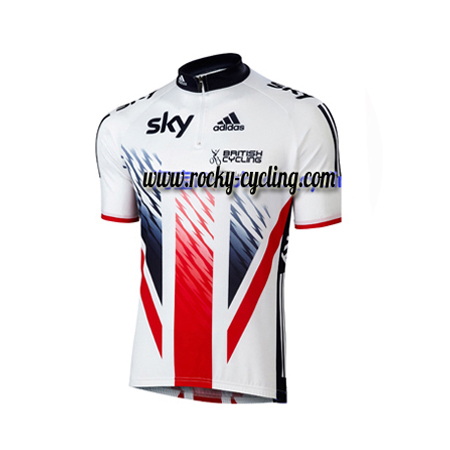 2016 Team SKY British Cycle Wear Biking Jersey Tops Shirt White Red ... e44875728