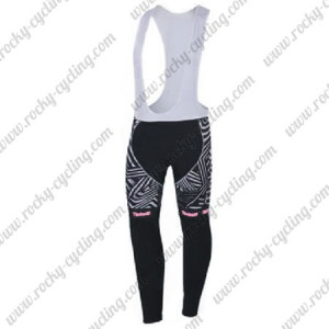 2016 Team Tinkoff SAXO BANK Womens Biking Long Bib Pants Black Pink