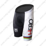 2015 Santini HERO UCI Champion Cycling Shorts White Rainbow