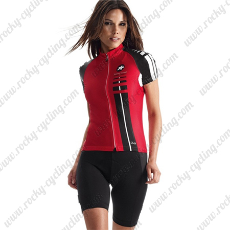 2015 Team ASSOS Ladies  Bicycle Clothing Riding Jersey Maillot and Padded  Shorts Red 8c0275ee5