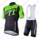 2015 Team Cannondale 71 Riding Bib Kit Green Black