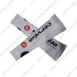2010 Team Cervelo Cycling Arm Sleeves Warmers White