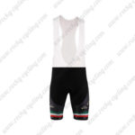 2010 Team KATUSHA Cycling Bib Shorts Black Green Red