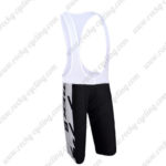2010 Team TREK Biking Bib Shorts White Black